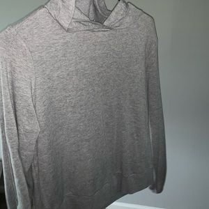 grey hoodie with elbow cut outs